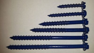 Phillips Flat Head 1//4 x 5 Concrete Masonry Screws Tapcon Anchor 50