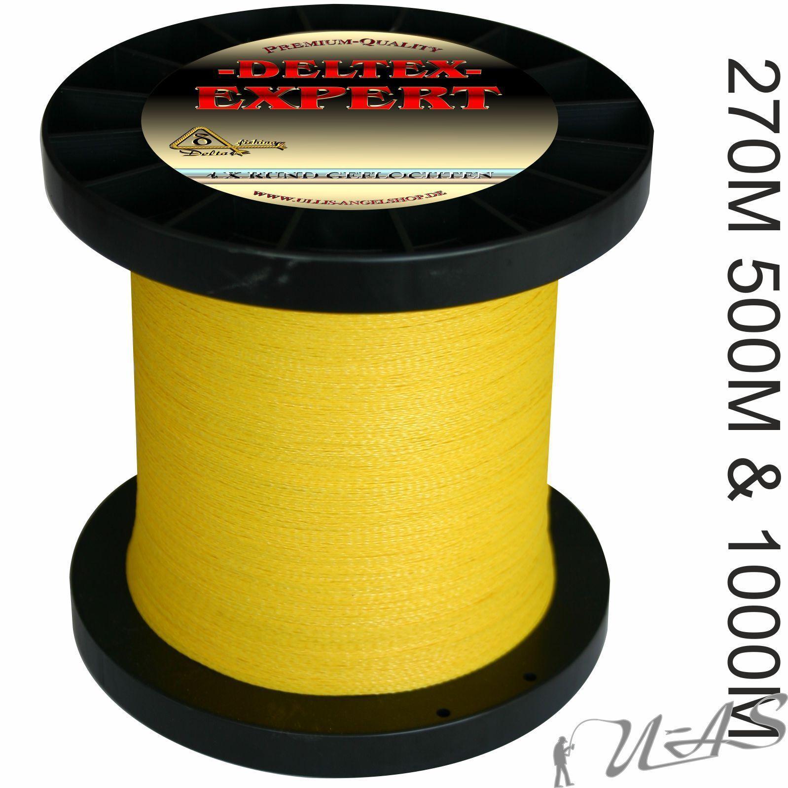 Deltex Expert Gituttio 270m 500m 1000m 4 x rossoondo Intrecciato lenza Dyneema KVA