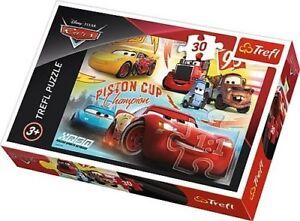 Trefl-30-pezzi-bambini-ragazzi-Disney-Cars-3-FULMINI-McQueen-Gara-Puzzle-NUOVO