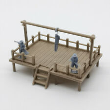 Outland Models Scenery Old West Gallow with Criminal and Officers 1:87 HO Scale