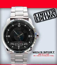New Limited Edition BMW Car Logo Emblem Unisex Sport Metal Wristwatch
