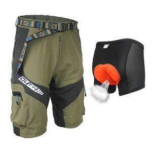 Army green cycling mountain bike bicycle shorts half pants for Craft mountain bike clothing