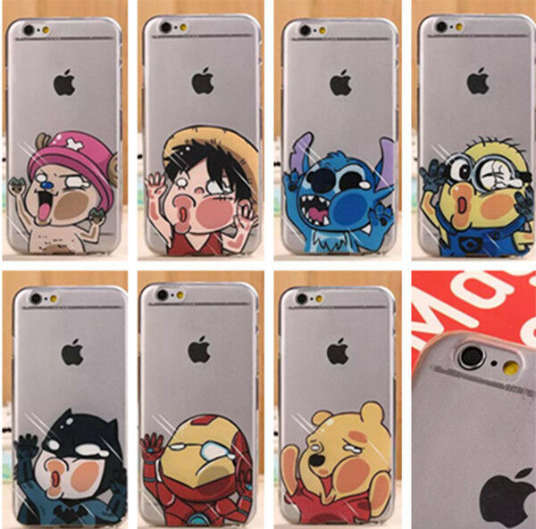 Nice Cute Cartoon Hero Funny Clear Hard Phone Case For iPhone 5S 5C 6 6 plus