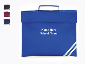 Name School Class Homework Personalised Classic School Book Bag Embroidered