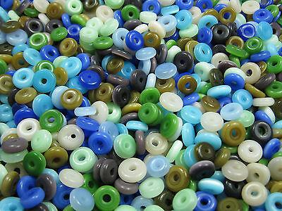 Cateye Perlen Ringe 30 St. 6-7mm  Mix neu 9598