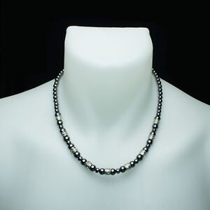 collier homme hématite