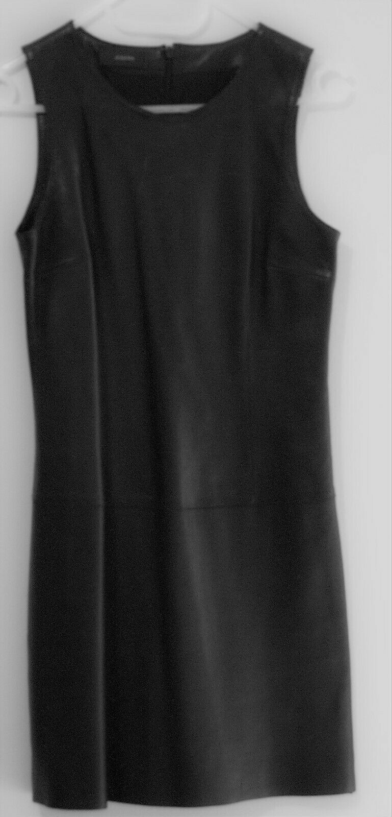 NUOVO RARO JOSEPH in pelle Brend NERO Mini Dress Dimensione 36