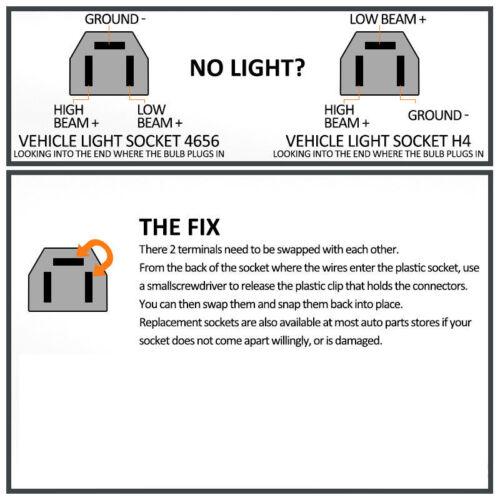 """7/""""x6/"""" 5x7 LED Light Bulbs Clear Sealed Beam Crystal Headlight Head lamp Bulb 2pc"""