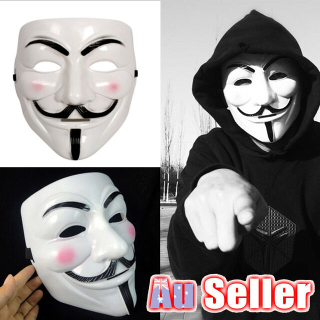 Fawkes Vendetta Mask Guy Anonymous Cosplay Sales For V GA Halloween Masks Fancy