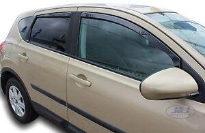 Exterior & Body Parts Wind Deflectors compatible with Nissan Qashqai 1 I J10 2007-2013 4pc