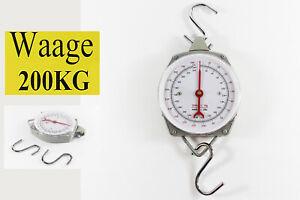 WAAGE-KUCHENWAAGE-GEPACKWAAGE-WARE-HANGEWAAGE-WAGE-FLEISCHERWAAGE-200KG