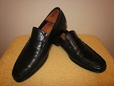 Nice Men's Black Leather BRUNO MAGLI Loafers Shoes  Size 12