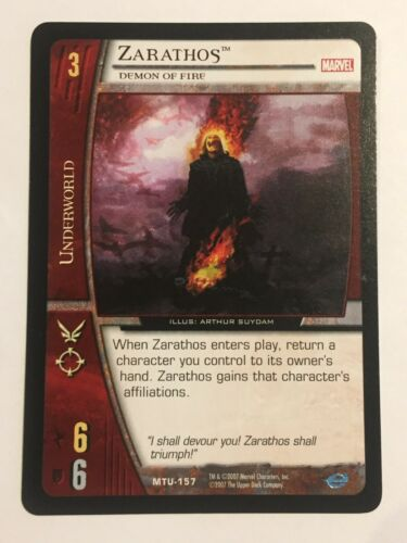 2007 Marvel Upper Deck Trading Card MTU-157 Zarathos