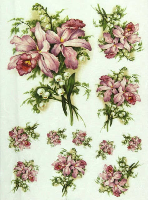 Rice Paper for Decoupage, Scrapbook Sheet, Craft Lily, Lily of the Valley