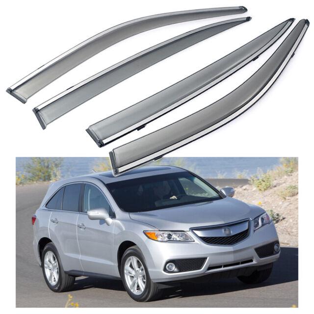 4x Car Window Visor Vent Deflector Sun/Rain Guards For