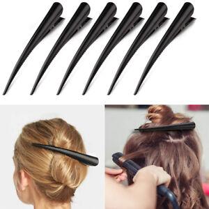 6pcs-Black-Metal-Non-slip-Crocodile-Clip-Hair-Clip-Hairdressing-Styling-Tool