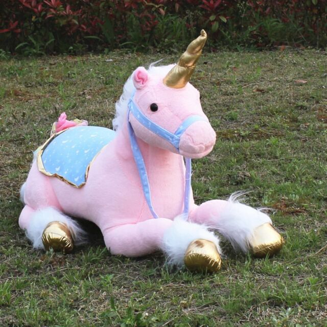 Unicorn Plush Toy Large Stuffed Lying Animals Pink Photography Prop Dolls Gift