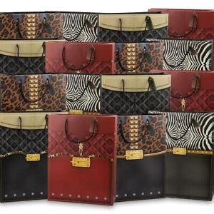 24pk Large Handbag-Style Gift Bags Bulk Set Handles Women Parties Favors Showers