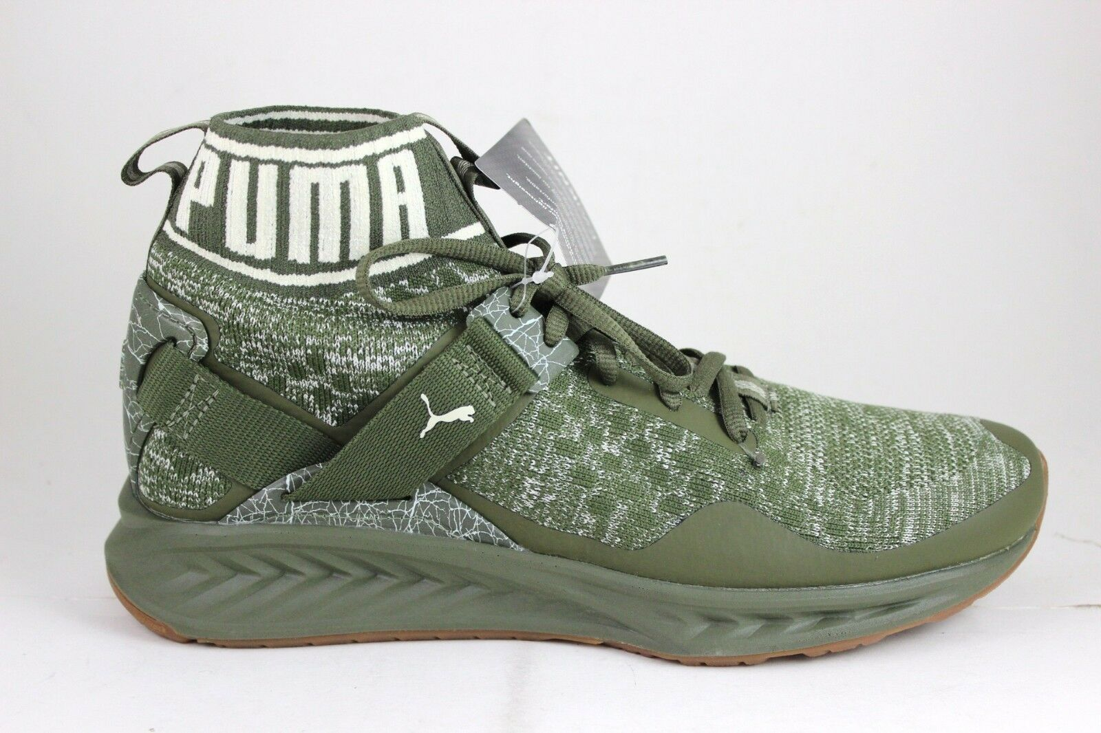 Men's Puma Ignite evoKNIT Hypernature Olive Birch 190337 01 Brand New In Box