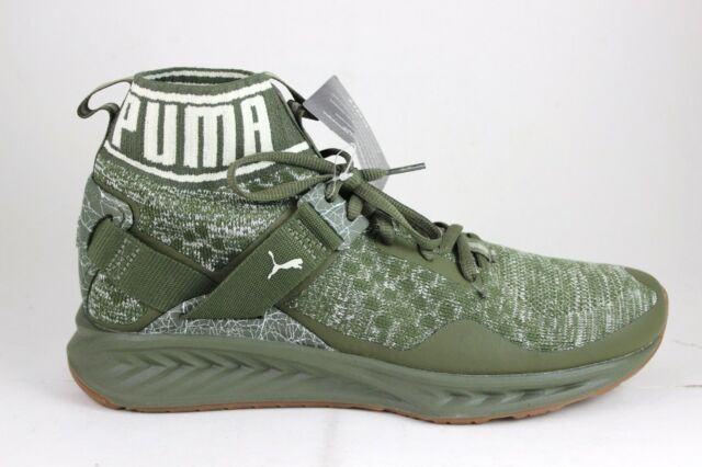 493f083e03b4 Men s Puma Ignite evoKNIT Hypernature Olive Birch 190337 01 Brand New In Box