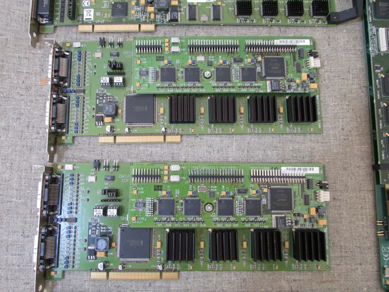 (12) Datapath Vision Video Capture Card PCIe - DGC123D DGC120E DGC110B Lot of 12