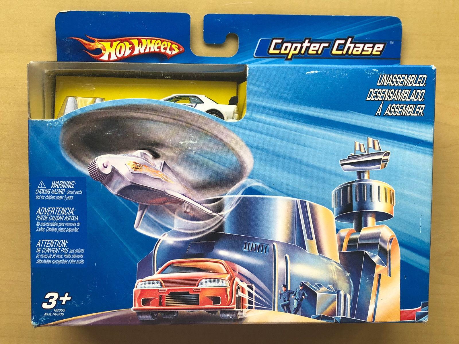 2004 hot wheels nissan skyline gt - r r32 hubschrauber chase gesetzt