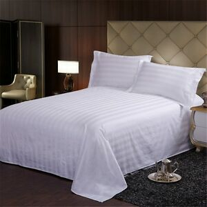 Egyptian Comfort White Cotton Bed Sheet Bedding Sheets Pillowcases Queen King