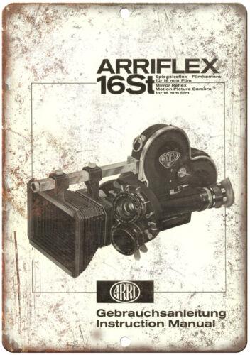 "10/"" x 7/"" Retro Look Metal Sign 1958 Arriflex 16st Film Camera Instruction"