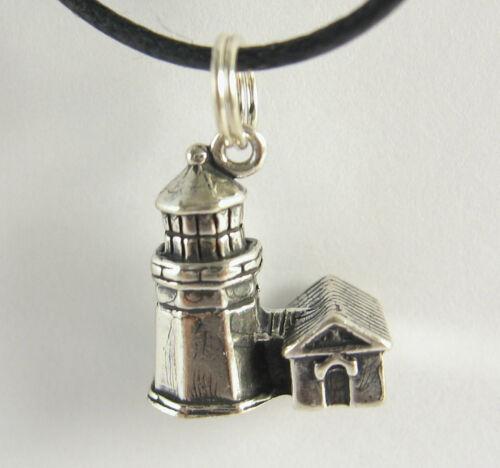 Cap MEARES phare Charme Collier Pendentif Argent Sterling .925 ou souvenir