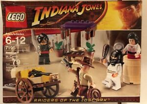 LEGO-7195-Indiana-Jones-Ambush-in-Cairo-New-Retired-Free-Ship-Bent-Smashed-Box