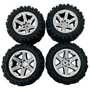 Traxxas assemblés RXT roues et Talon Extrême Tyres 2.8 Chrome Satiné x4 6773R