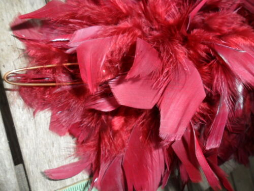 Plume Vintage Marching Band Hat Feather Maroon Wine