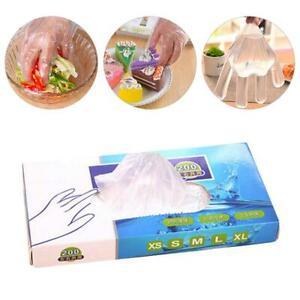 200x-Guantes-Desechables-Latex-y-libre-de-polvo-Limpieza-De-Alimentos-Catering-Transparente