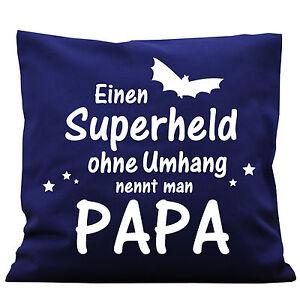 K116-wandtattoo-loft-decorativo-Cuscino-super-eroe-senza-Cape-PAPA-HERO