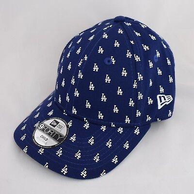 a15426d5 Details about New Era Kids 9Forty LA Dodgers Child Monogram Peak Navy Blue Adjustable  Cap Hat