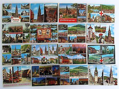 Genossenschaft Postkarten Sammlung Freiburg Breisgau 16 Mehrbildkarten Color Gelaufen Ab 1964 AusgewäHltes Material