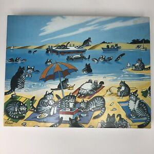 B-Kliban-The-Cat-Days-of-Summer-500-Piece-Puzzle-Complete-Beach-1984-Cartoon