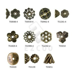 70pcs Antique Brass End Bead Caps Craft Jewelry Findings Cone 10.5x10.5x6mm YB