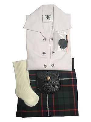 Hose Dress Gordon Tartan Baby Adjustable Kilt Outfit Sporran 0-24 Months