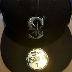 2c7fe707 Details about Seattle Mariners New Era MLB On Field 59FIFTY Fitted Hat,  USA, NEW, 7 5/8