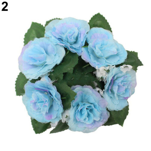 EG/_ Artificial Flower Floral Candle Ring Holder Tabletop Centerpiece Decor Great