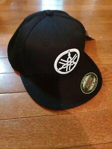 Black, Small//Medium Factory Effex 17-88290  Yamaha Fork Flex-Fit Hat