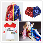 Fancy Dress Party Hot T-Shirt/Jacket/Shorts For Harley Quinn Cosplay Costume