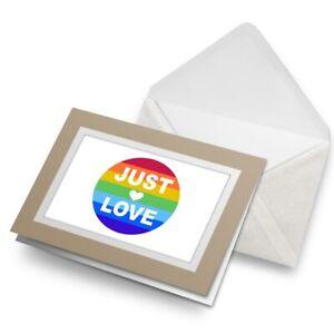 Greetings-Card-Biege-Just-Love-Gay-Lesbian-LGBT-19490