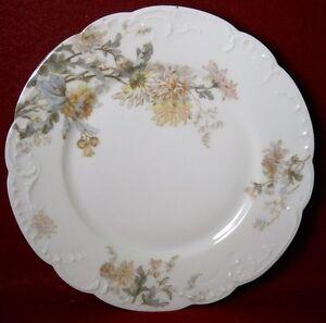 "HAVILAND France Limoges Schleiger 86 CHRYSANTHEMUM Salad Dessert Plate - 7-3/4"""