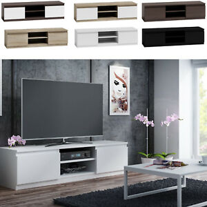 tv schrank lowboard fernseher schrank tv m bel fernsehtisch sonoma wei ebay. Black Bedroom Furniture Sets. Home Design Ideas