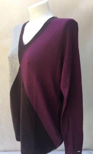 Grigio Denim donna da Damia viola marrone L Maglione Maglione Hilfiger gYRdqn1w1