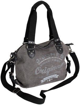 Schultertasche Umhängetasche aus Canvas Damen Stoff crossover Handtasche 2farben