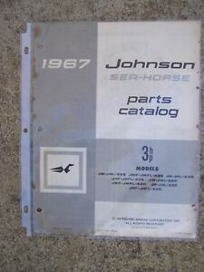 1967 Johnson 3 Hp Sea Horse Outboard Motor Parts Catalog Check Store For More L Ebay