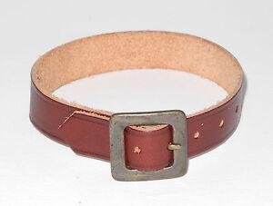 Original Steiff Zubehör dunkelbraunes Halsband Gürtel  26cm lang
